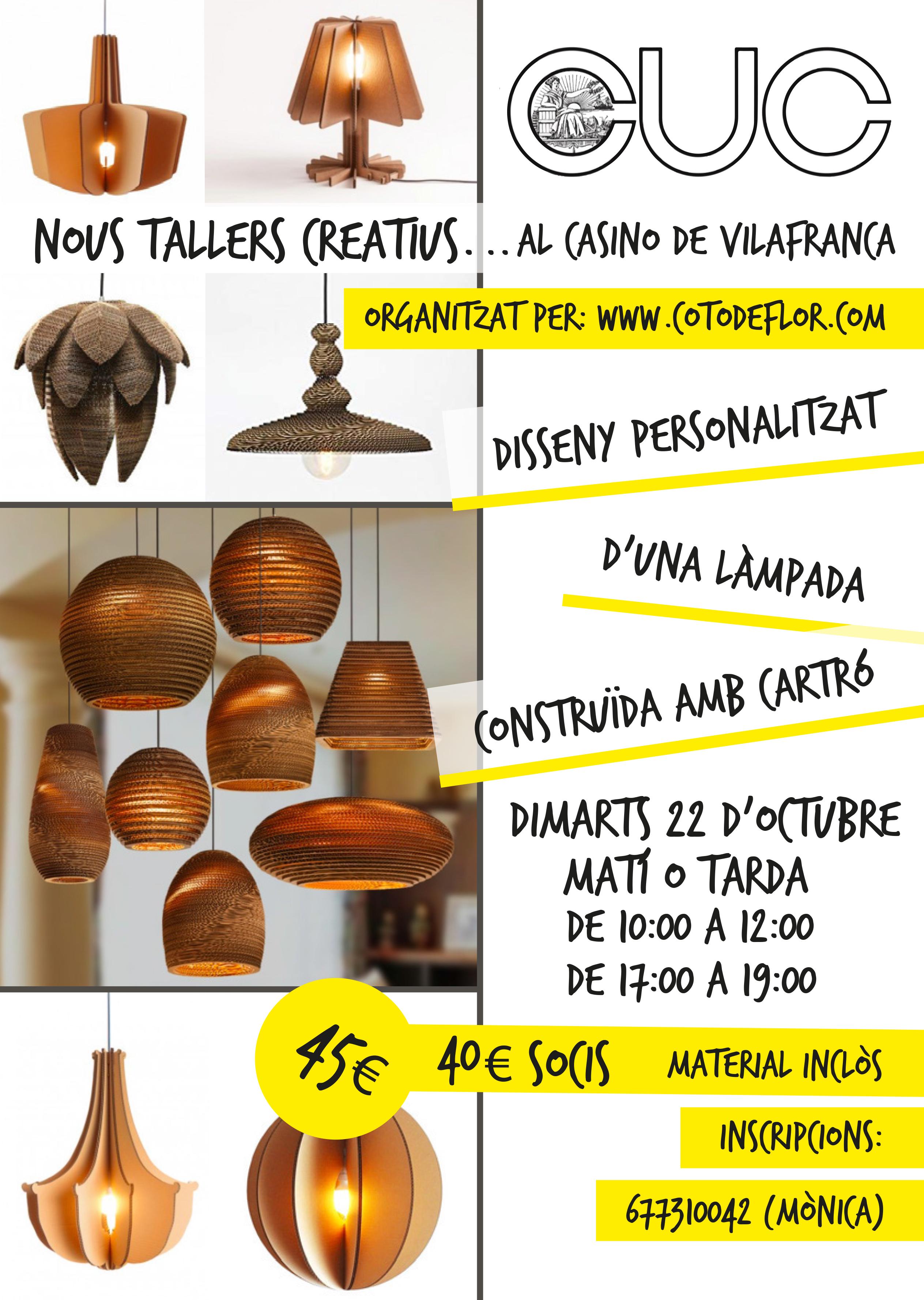 TALLER LÀMPARA CARTRÓ