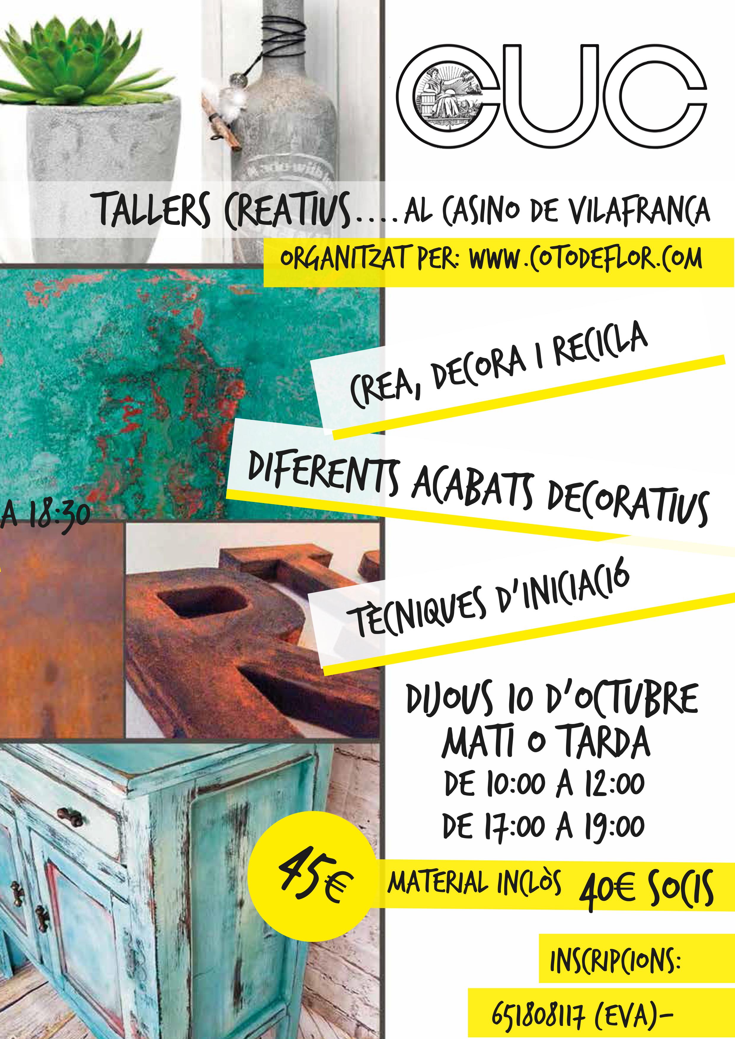 TALLER TÈCNIQUES DECORATIVES